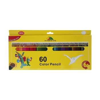 مداد رنگی 60 رنگ نامبروان مدل NEW