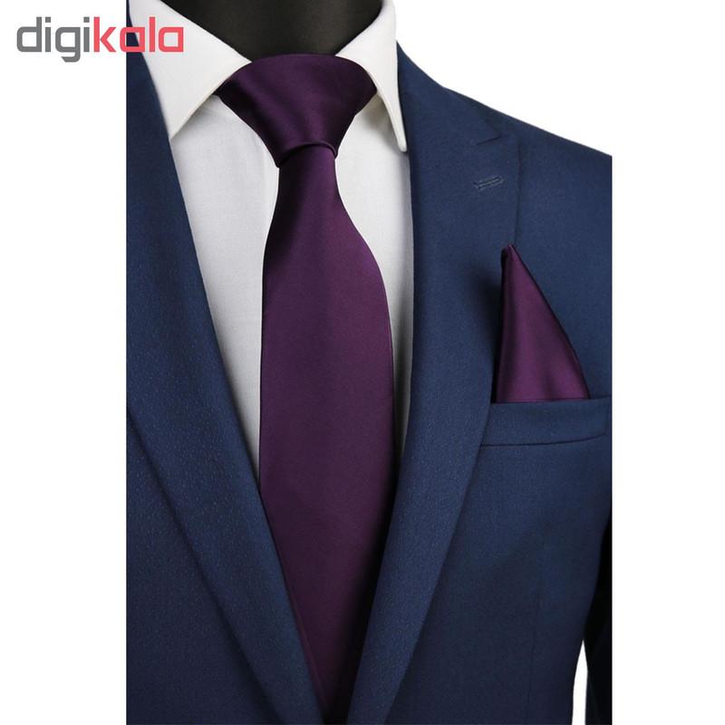 ست کراوات و دستمال جیب مردانه کد KS004