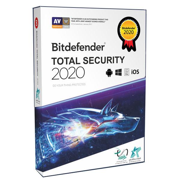 نرم افزار آنتی ویروس بیت دیفندر نسخه توتال سکیوریتی 2020 سه کاربره 1 ساله