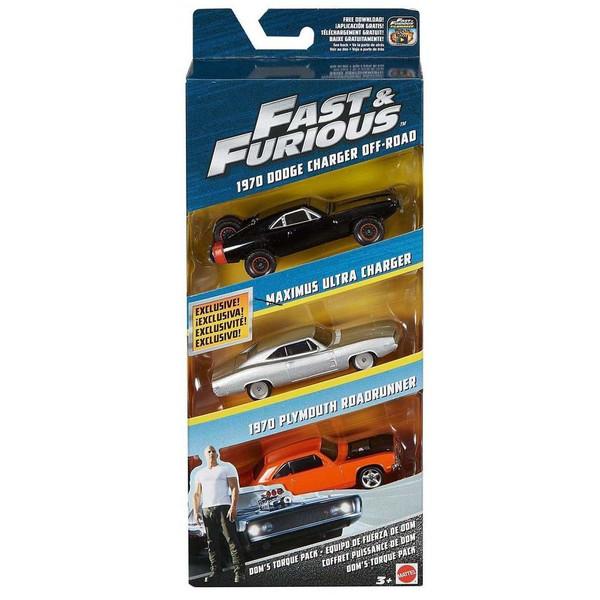 ماشین بازی متل مدل Fast-Furious  کد FCG01-02 بسته 3 عددی