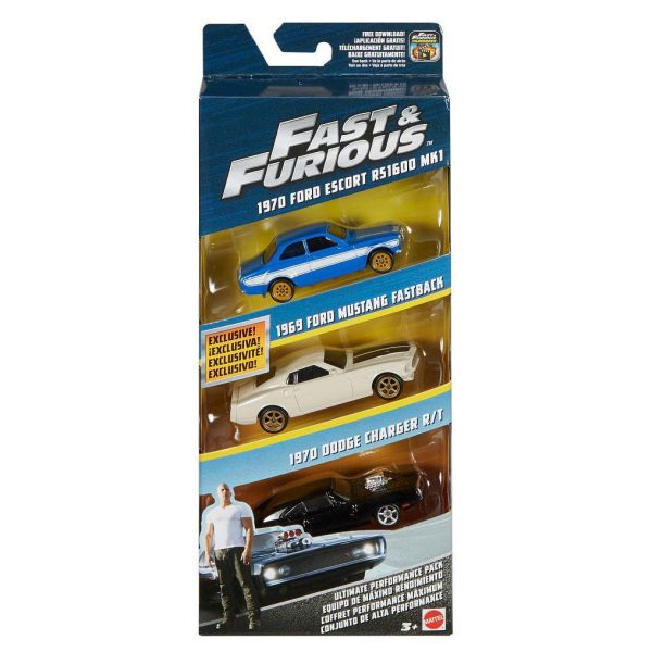 ماشین بازی متل مدل Fast-Furious  کد FCG01-03 بسته 3 عددی