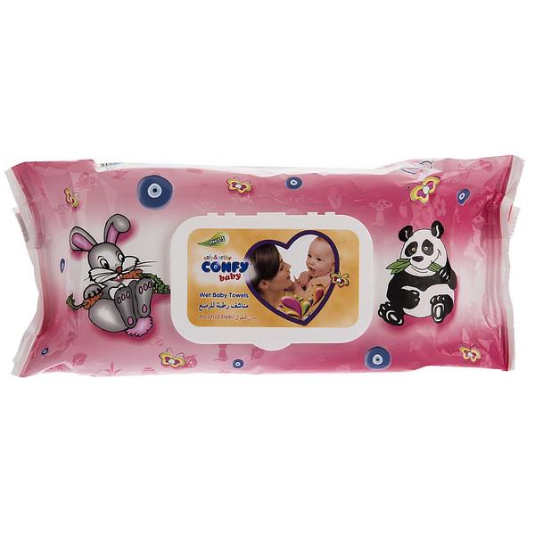 دستمال مرطوب کودک کانفی بیبی - بسته 70 عددی