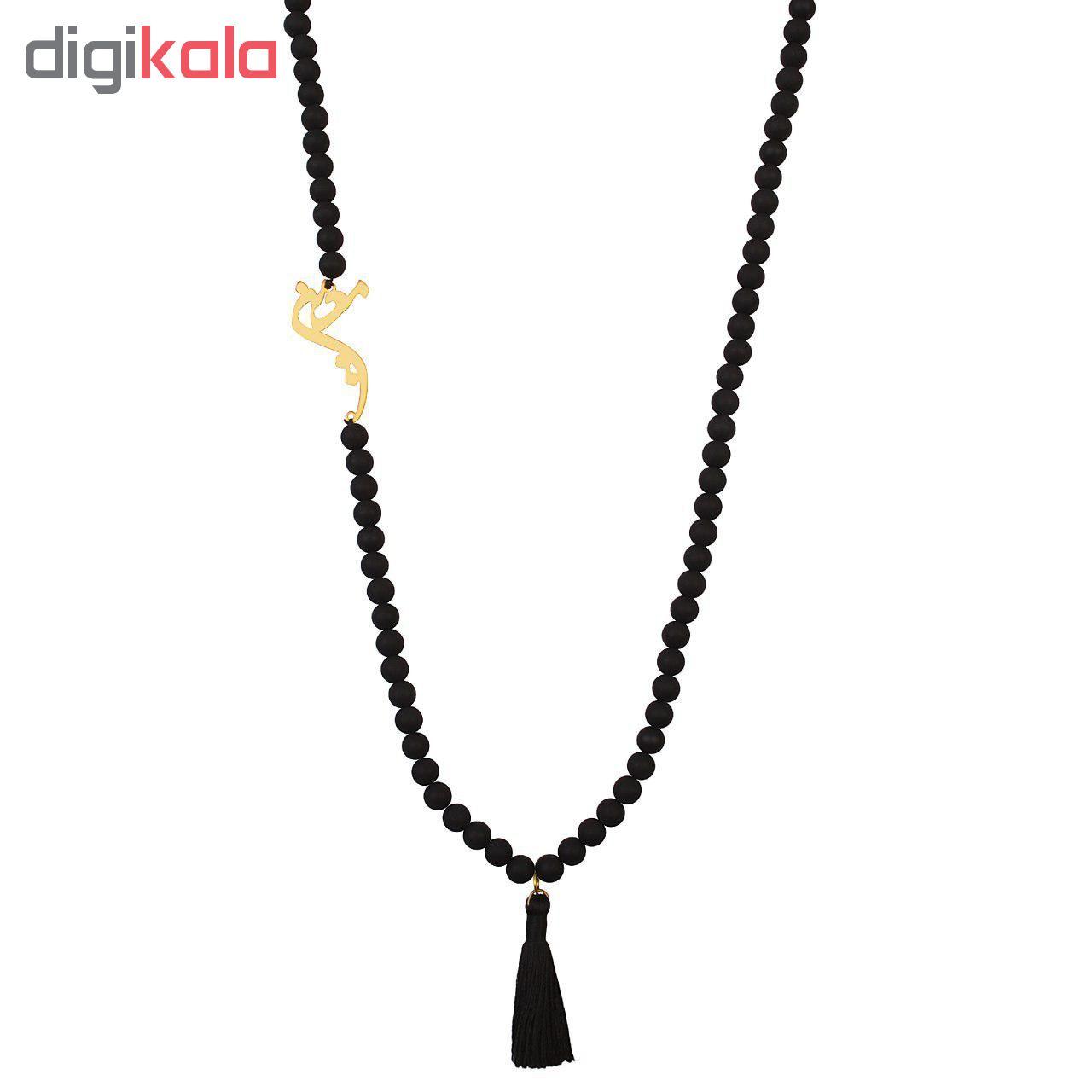 گردنبند طلا 18 عیار نه کابوک طرح معین کد C0286