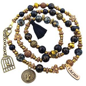 دستبند زنانه لاچو طرح سکه و قفس کد SO-B