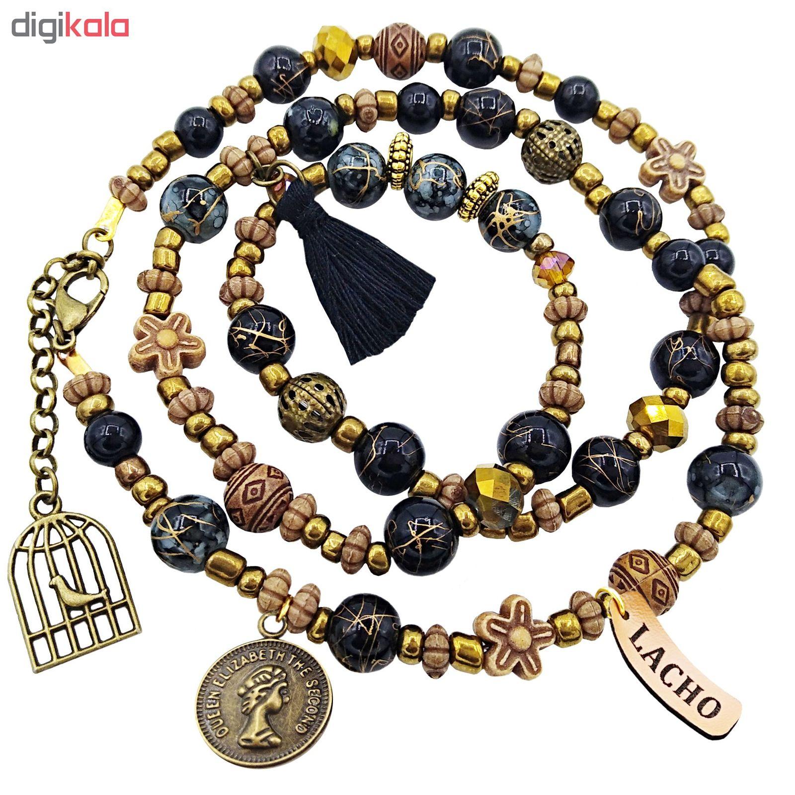 دستبند زنانه لاچو طرح سکه و قفس کد SO-B thumb 2 1