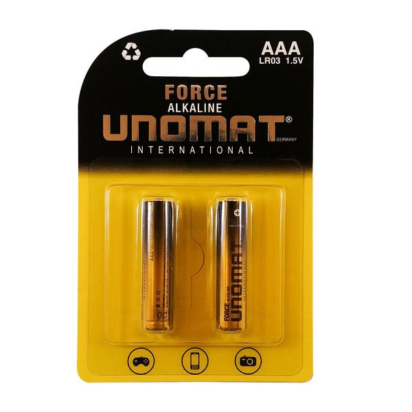 باتری نیم قلمی یونومات مدل Force-2 بسته ۲ عددی