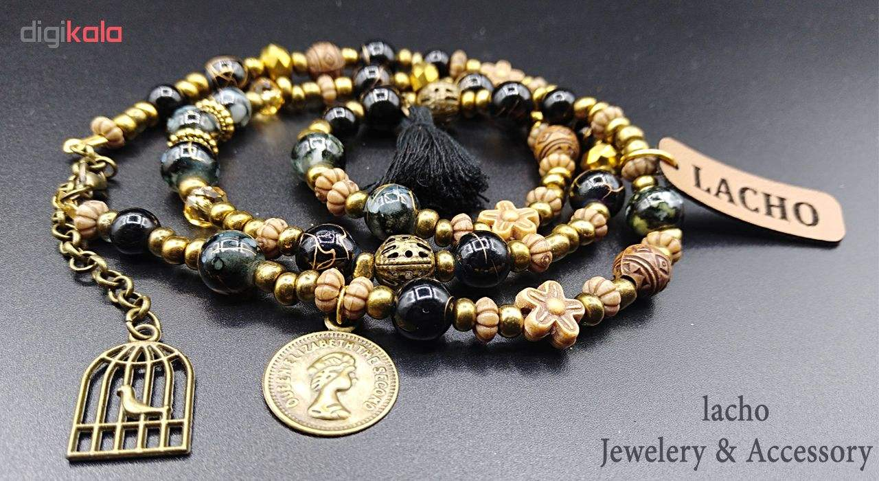 دستبند زنانه لاچو طرح سکه و قفس کد SO-B thumb 2 2