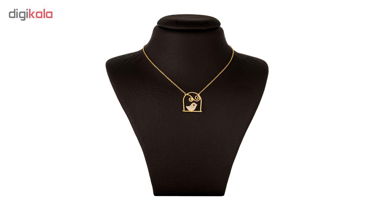 گردنبند طلا 18 عیار زنانه جواهری سون مدل 2396
