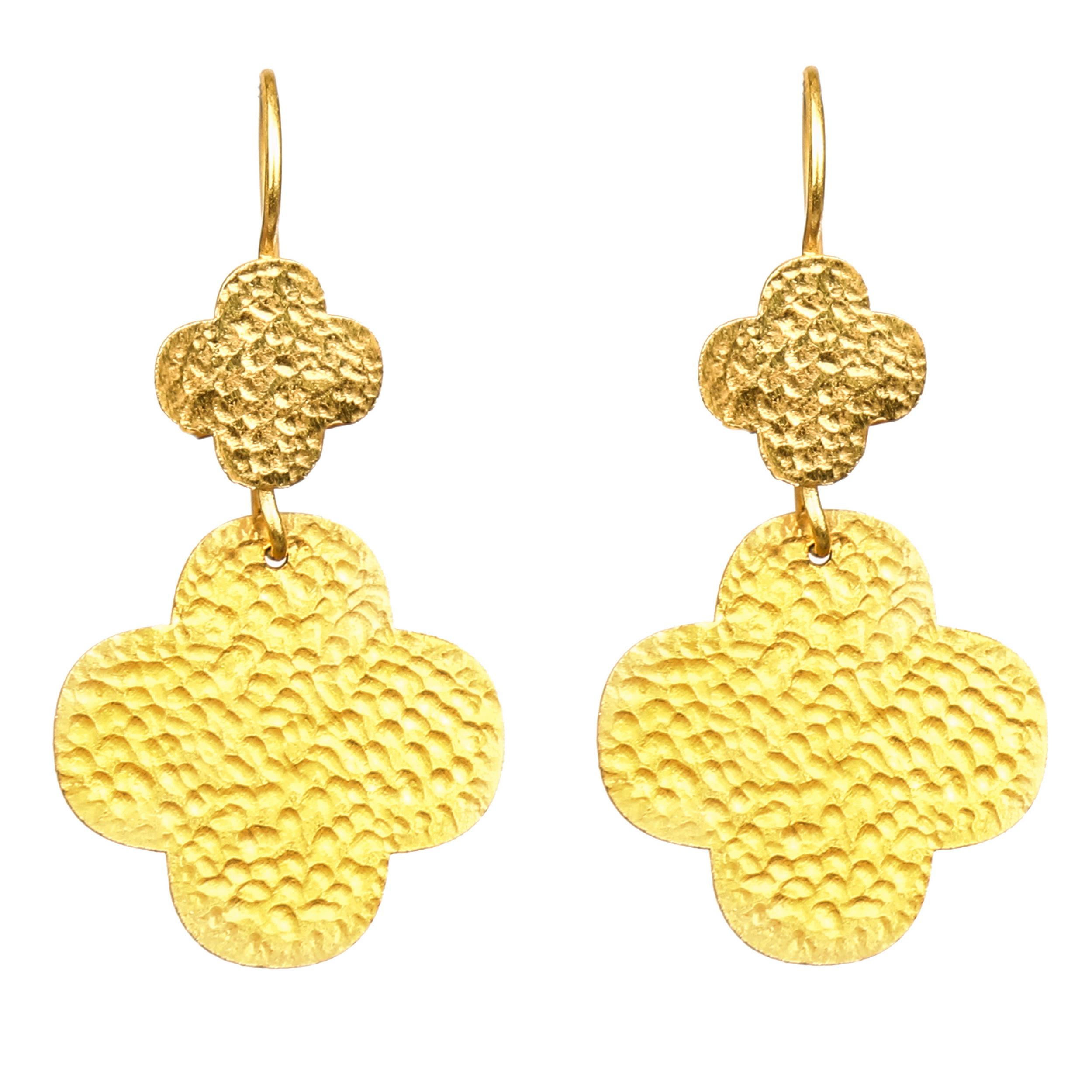 گوشواره طلا 18 عیار زنانه کد BCE101
