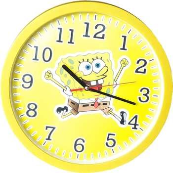 ساعت دیواری کودک طرح باب اسفنجي کد C04