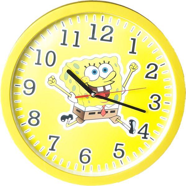 ساعت دیواری کودک طرح باب اسفنجی کد C04