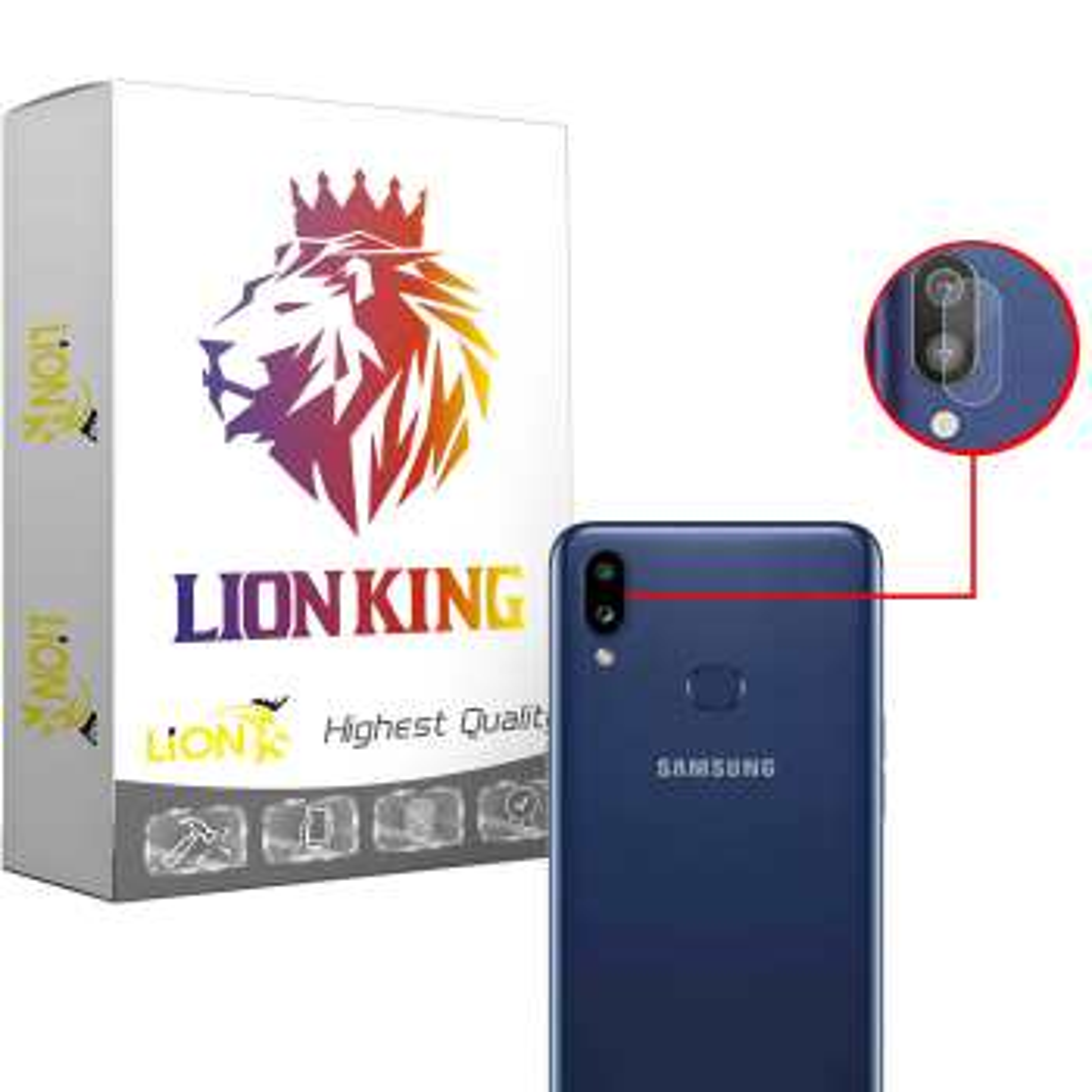 محافظ لنز دوربین لاین کینگ مدل LKL مناسب برای گوشی موبایل سامسونگ Galaxy A10S