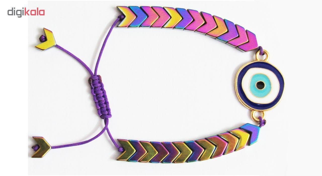 دستبند زنانه طرح چشم نظر کد A01 main 1 1