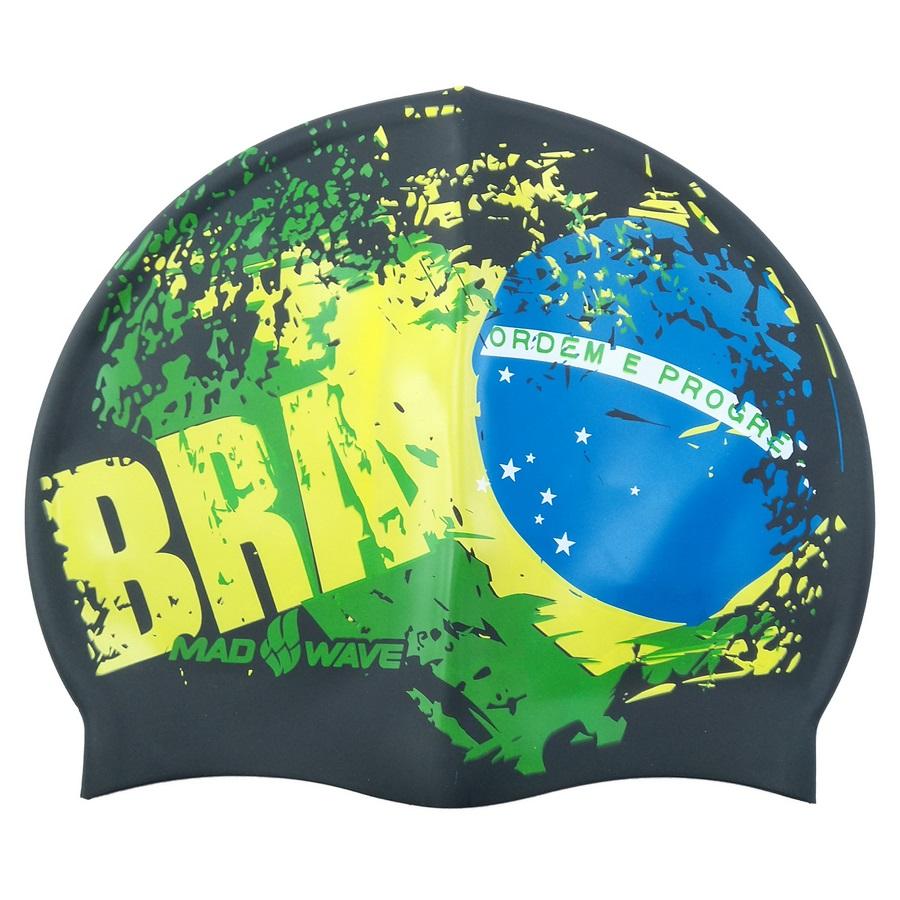 کلاه شنا مد ویو طرح پرچم برزیل کد 1577