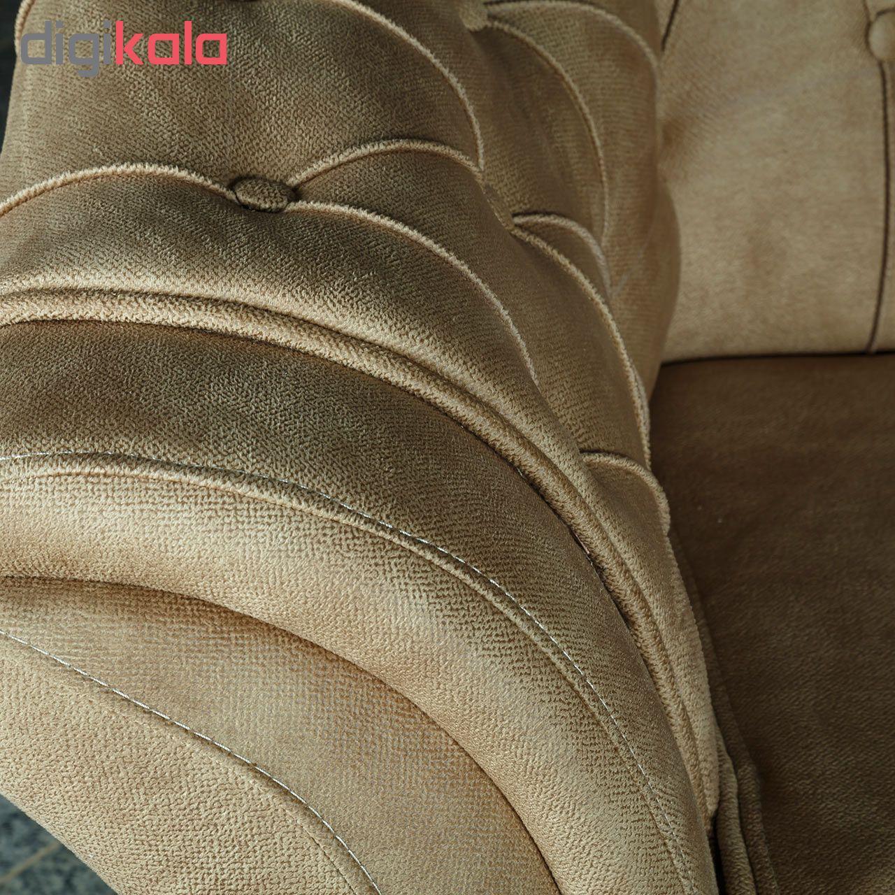 قیمت                      مبل راحتی سه نفره چشمه نور کد MA-411.3-BR-N