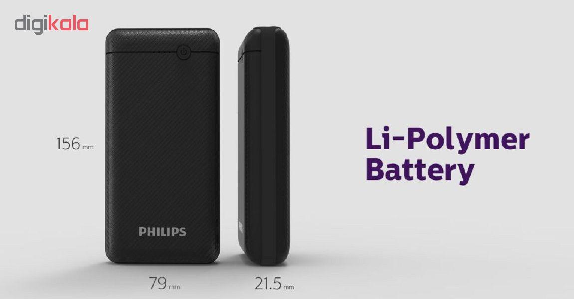 شارژر همراه فیلیپس مدل DLP1720CB ظرفیت 20000 میلی آمپر ساعت