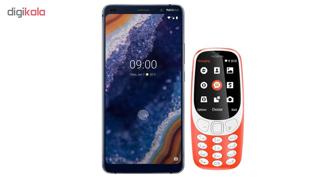 گوشی موبایل نوکیا مدل 9 PureView TA-1087 دو سیم کارت ظرفیت 128 گیگابایت به همراه مدل (2017) 3310 دو سیم کارت