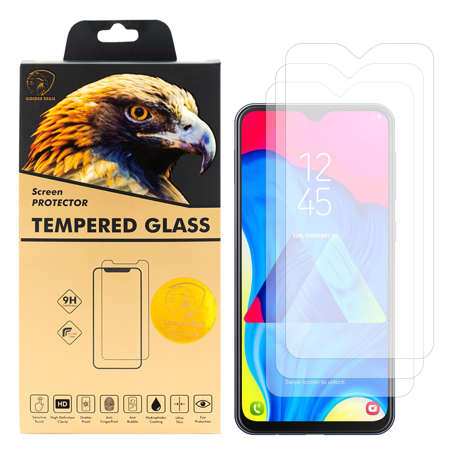 محافظ صفحه نمایش گلدن ایگل مدل GLC-X3 مناسب برای گوشی موبایل سامسونگ Galaxy M10 بسته سه عددی