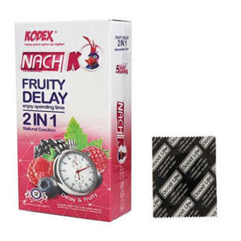کاندوم ناچ کدکس مدل  Fruity delay 2in1 بسته 12 عددی به همراه کاندوم گودلایف مدل Dotted