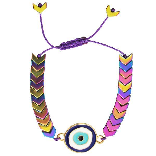 دستبند زنانه طرح چشم نظر کد A01