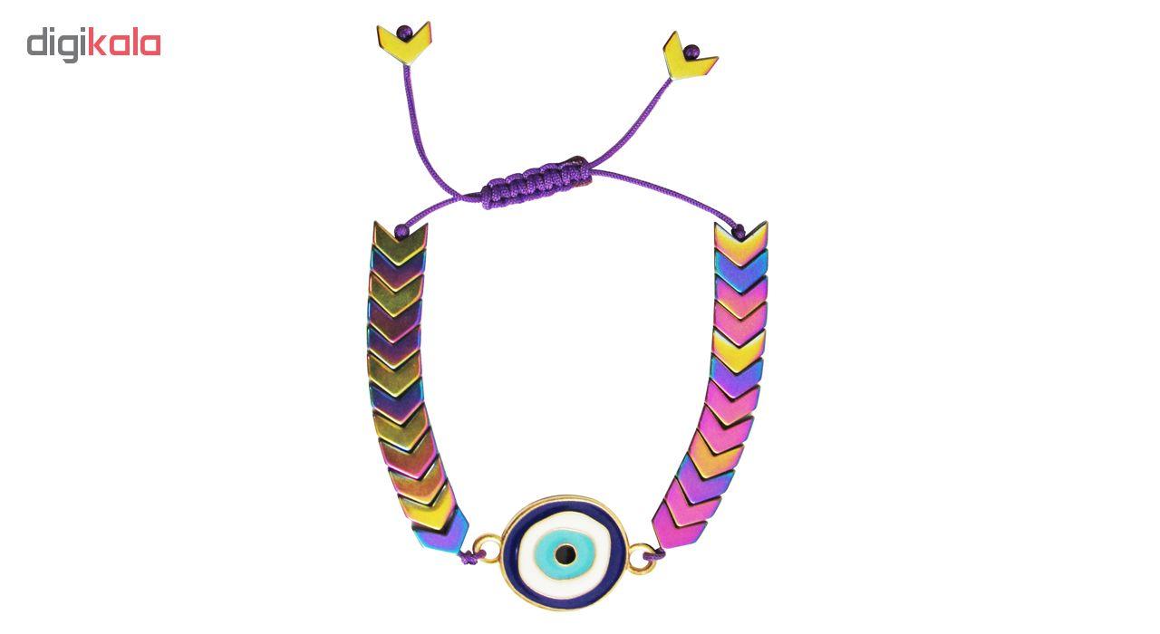 دستبند زنانه طرح چشم نظر کد A01 main 1 2