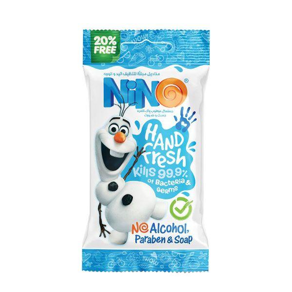 دستمال مرطوب کودک نینو کد 847 بسته 10 عددی