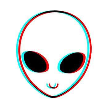 استیکر لپ تاپ لولو طرح ادم فضایی کد 11