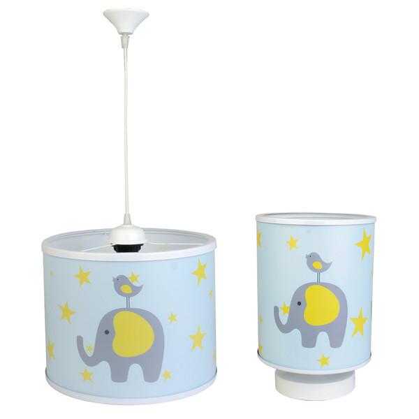 لوستر کودک طرح فیل و گنجشک کد55 به همراه چراغ خواب