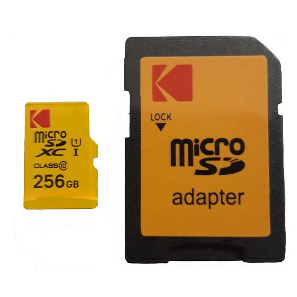 کارت حافظه microSDXC کداک مدل IP22  کلاس 10  استاندارد UHS-I U1  سرعت 85MBps ظرفیت 256گیگابایت به همراه آداپتور SD