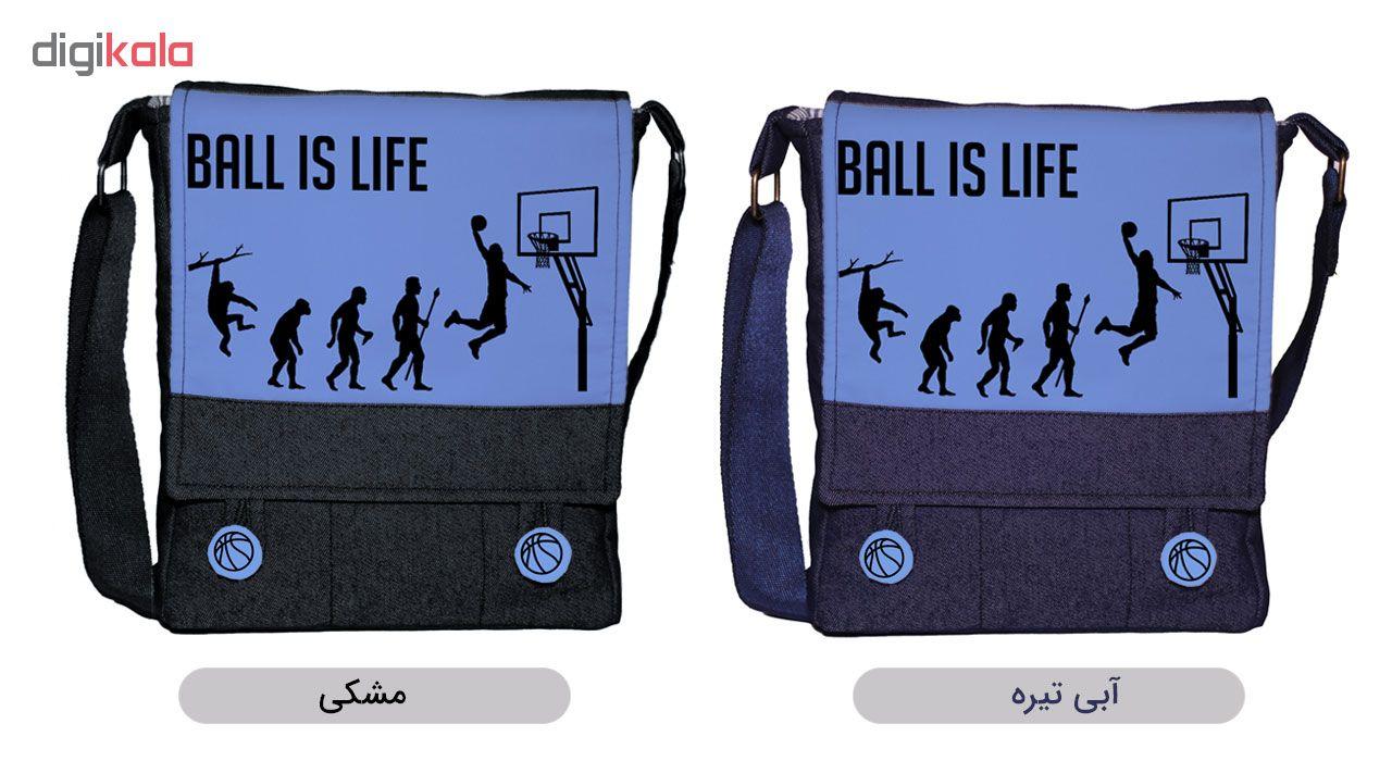 کیف رودوشی زنانه گالری چی چاپ طرح بسکتبال