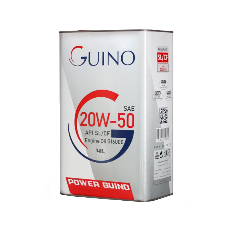 روغن موتور خودرو گینو  مدل G16000 حجم 4000 میلی لیتر