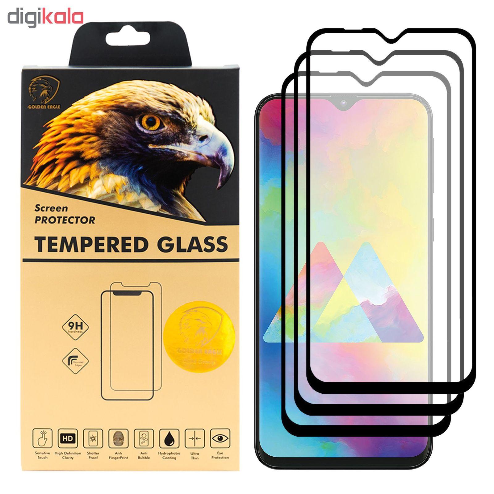 محافظ صفحه نمایش گلدن ایگل مدل DFC-X3 مناسب برای گوشی موبایل سامسونگ Galaxy M20 بسته سه عددی main 1 1
