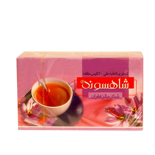 چای زعفرانی کیسه ای شاهسوند بسته 24 عددی