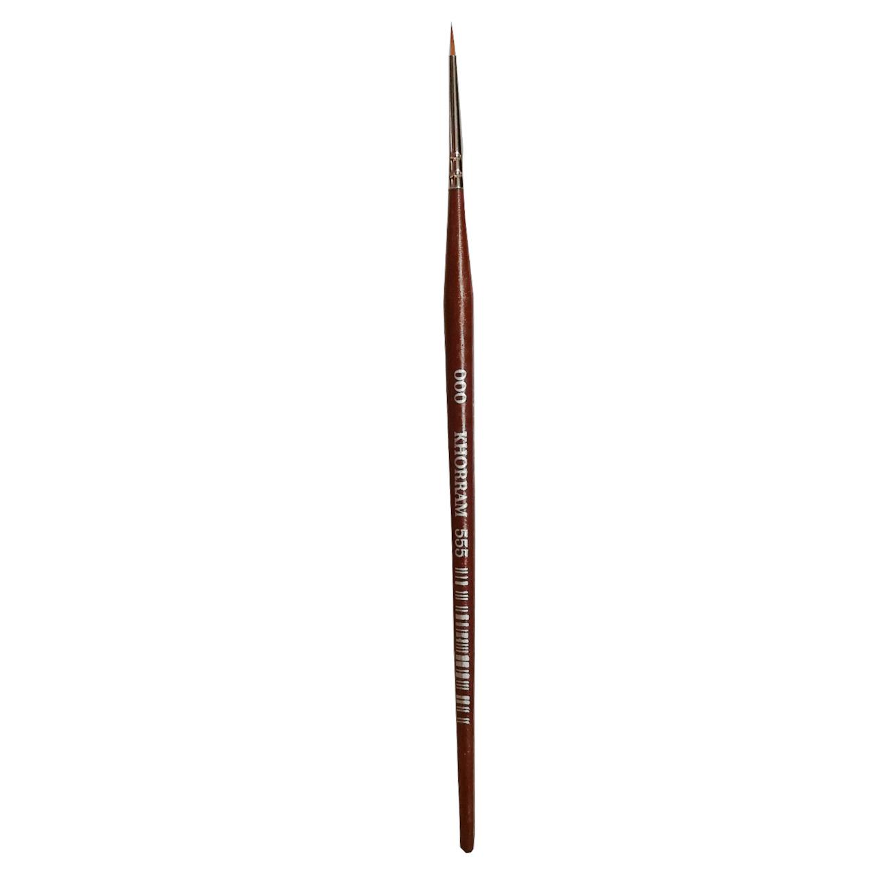 قلم مو گرد خرم شماره 000 کد 555