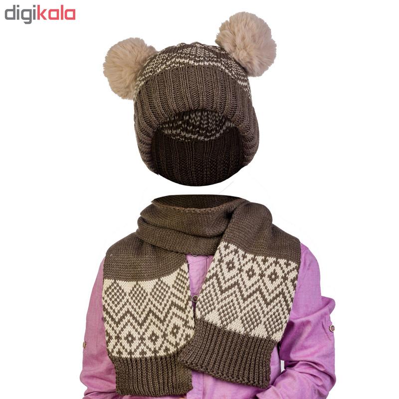 ست کلاه و شال گردن مدل D41104