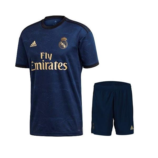 ست پیراهن و شورت ورزشی مردانه طرح رئال مادرید مدل 20-2019 کدTH رنگ سرمه ای