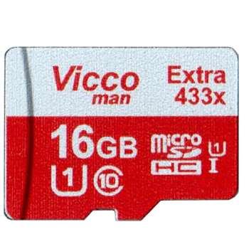 کارت حافظه microSDHC ویکومن مدل Extra 433X کلاس 10 استاندارد UHS-I U1 سرعت 65MBps ظرفیت 16 گیگابایت
