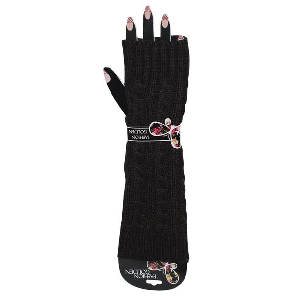 ساق دست بافتنی  زنانه فشن گلدن مدل پروانه کد 15