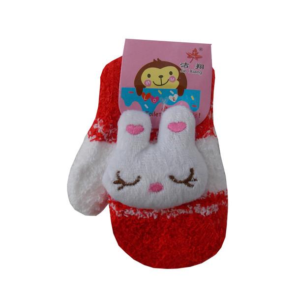 دستکش دخترانه طرح عروسک کد KHA-20707