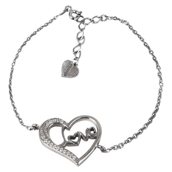 دستبند نقره زنانه مد و کلاس کد MC-485