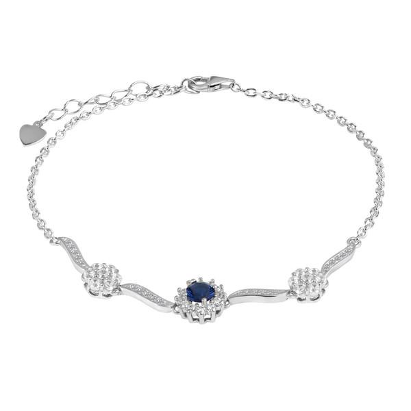 دستبند نقره زنانه اقلیمه کد DN459