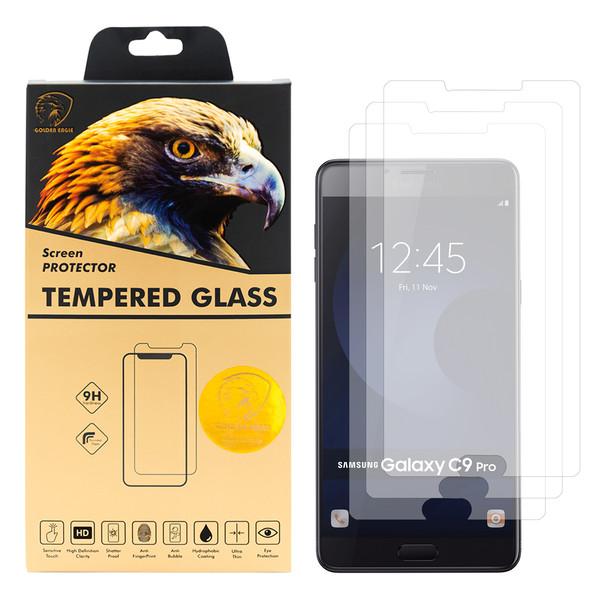 محافظ صفحه نمایش گلدن ایگل مدل GLC-X3 مناسب برای گوشی موبایل سامسونگ Galaxy C9 PRO بسته سه عددی