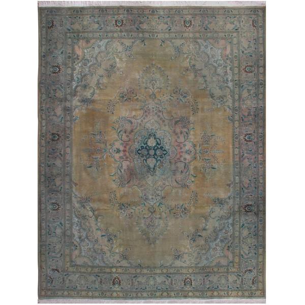 فرش دستبافت رنگ شده یازده و نیم متری فرش هریس کد 101478