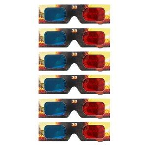 عینک سه بعدی مدل  zippleback بسته 6 عددی
