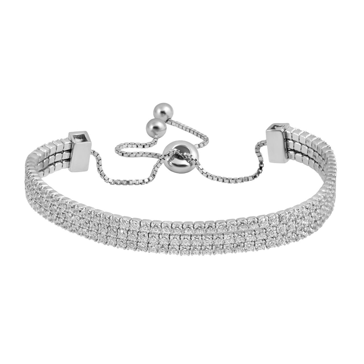 دستبند نقره زنانه اقلیمه کد DN460