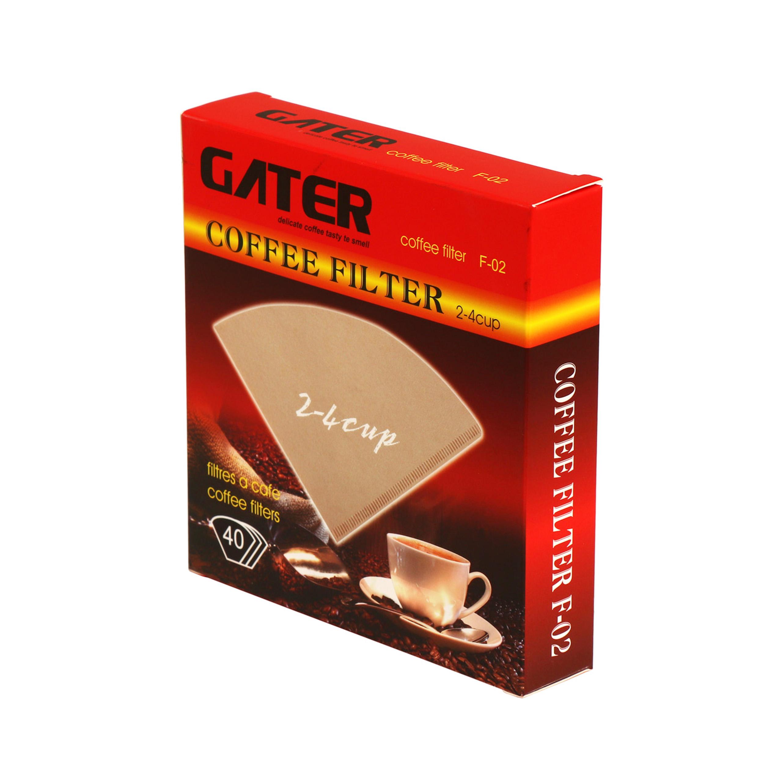 قیمت                      فیلتر قهوه گاتر مدل F02 بسته 40 عددی