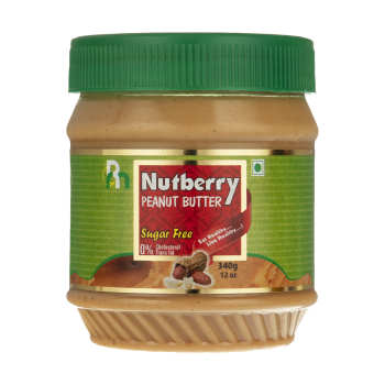 کره بادام زمینی بدون شکر ناتبری مقدار 340 گرم