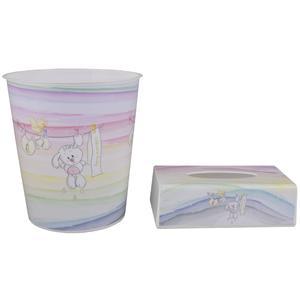 ست سطل و جادستمال اتاق کودک طرح خرگوش کد 1047