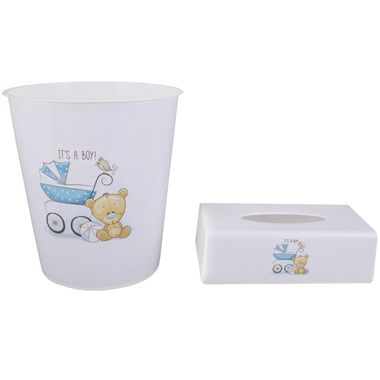 ست سطل و جادستمال اتاق کودک طرح خرس کد 0115