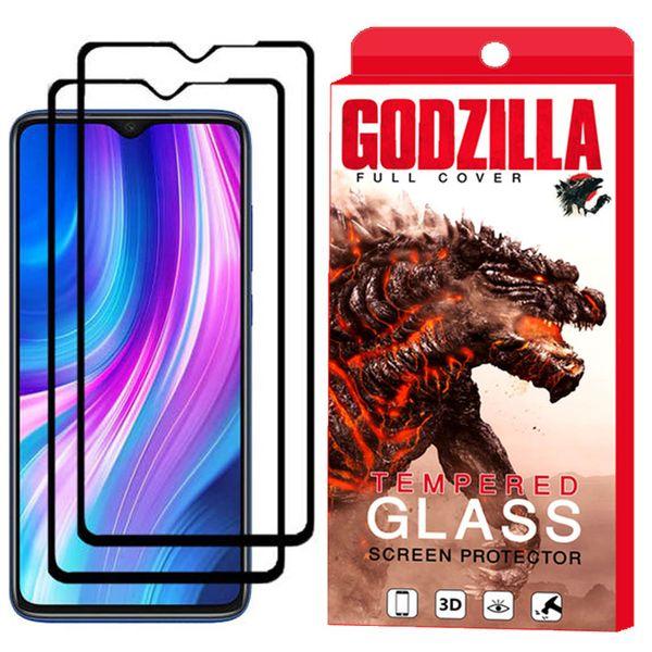 محافظ صفحه نمایش گودزیلا مدل GGF مناسب برای گوشی موبایل شیائومی Redmi Note 8 Pro بسته 2 عددی